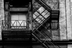 Escaliers extérieur métalique