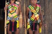 Chuvachu et Sanglomong de la tribu Pochury - hornbill festival Nagaland - Inde