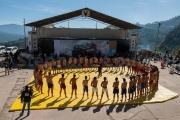 Les lutteurs font allegence au code de ce sport - Hornbill festival Nagaland -Inde