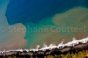 Profil bleu - Le littoral ouest - La Reunion vue du ciel