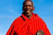 Vieil homme masai du Ngorongoro conservation area