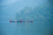 Brume sur le lac de Pokhara - Nepal