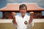 Yoshitaka Taira est hanshi 10e dan style shorin ryu - karate Kaikan Naha - Okinawa