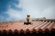Shisa on hot roof  - Naha Okinawa