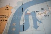 Carte des courants a Yonaguni - Okinawa