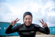 Plongeur poudre  à Yonaguni - Okinawa
