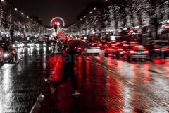 Rain man on Champs Elysées