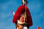 Guerrier pare de plumes et cornes - Nagaland -Inde