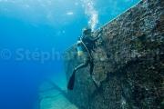 Derriere les murs de la cite sous marines - Yonaguni - Okinawa