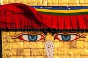 Le voile levé sur le regard de Bouddha  -Stupa - Bodhnath - Népal